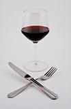 Glas rode wijn Royalty-vrije Stock Foto's