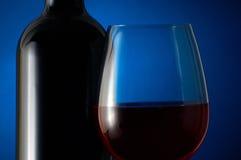 Glas rode wijn Stock Afbeelding