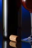 Glas rode wijn Stock Foto's