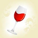 Glas rode wijn stock illustratie