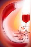 Glas rode wijn Royalty-vrije Stock Afbeelding