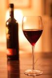 Glas rode wijn Stock Fotografie