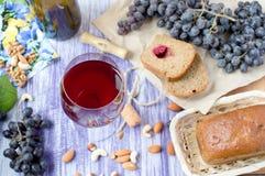 Glas rode wijn Royalty-vrije Stock Fotografie