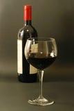 Glas rode wijn royalty-vrije stock foto
