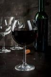 Glas rode wijn Stock Foto