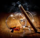 Glas in rook royalty-vrije stock fotografie