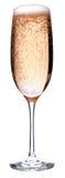 Glas rosafarbener Champagner Stockbilder