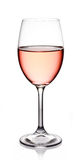 Glas rosafarbener Wein Lizenzfreie Stockfotos
