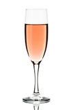 Glas rosafarbener Wein lokalisiert Stockbild