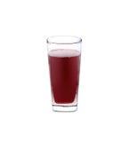 Glas Roselle-Saft auf Weiß Stockfoto