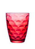 Glas Rot mit schönen Mustern Stockfotografie