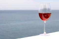 Glas Rotwein Stockfotos