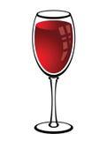 Glas Rotwein stock abbildung