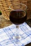 Glas Rotwein Stockbilder