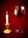 Glas Rotwein Lizenzfreie Stockbilder