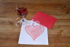 Glas Rotwein Stockbild