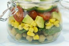 Glas Salat Stockbild