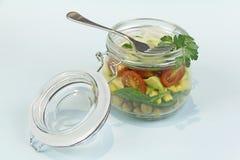 Glas Salat Stockbilder