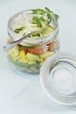 Glas Salat Lizenzfreie Stockfotografie