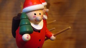 Glas-Santa Clause Figures Stockfotos