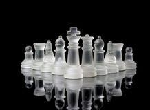Glas- schackdiagram Royaltyfri Bild