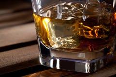 Glas Schotse whisky Stock Foto