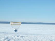 Glas, See und Schnee Lizenzfreie Stockfotografie
