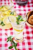 Glas selbst gemachte Limonade Stockbild