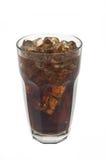 Glas soda en ijs Stock Foto