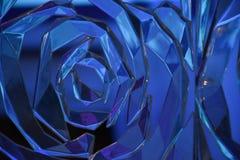 Glas spiraalvormige weerspiegelende gefacetteerde oppervlakte Stock Fotografie