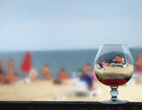 Glas, strand, overzees stock afbeelding