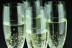 Glas szampan w zbliżeniu Fotografia Stock