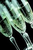 Glas szampan w zbliżeniu Zdjęcie Royalty Free