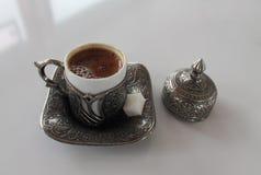 Glas türkischer Kaffee, Lizenzfreies Stockbild