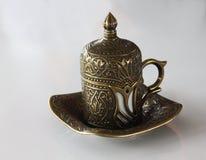 Glas türkischer Kaffee Lizenzfreie Stockfotos