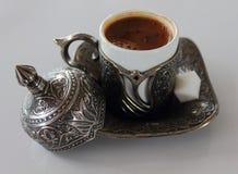 Glas türkischer Kaffee Stockfotos