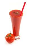 Glas Tomatesaft Lizenzfreie Stockfotos