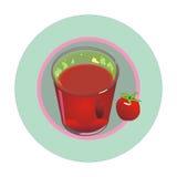 Glas Tomatesaft Lizenzfreies Stockbild