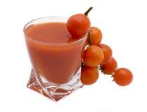 Glas tomatesap Royalty-vrije Stock Foto's