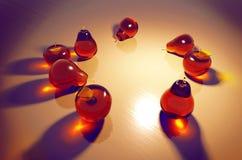 Glas trägt Stillleben Früchte lizenzfreie abbildung