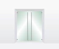 Glas transparante deur Royalty-vrije Stock Foto's