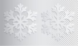 Glas transparante sneeuwvlok Royalty-vrije Stock Fotografie