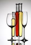 Glas twee wijn Royalty-vrije Stock Foto