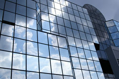 Glas- und bewölkt Lizenzfreies Stockbild