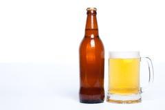 Glas und Flasche Lizenzfreies Stockfoto