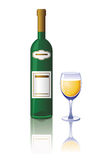 Glas und Flasche stock abbildung