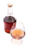 Glas und Flasche Stockbild