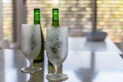 Glas und Flaschen Bier Lizenzfreie Stockbilder