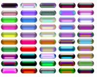 Glas- und Gelweb-Tasten Lizenzfreie Stockfotos