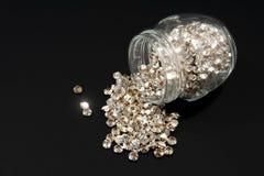 Glas und Kristalle Stockfoto
